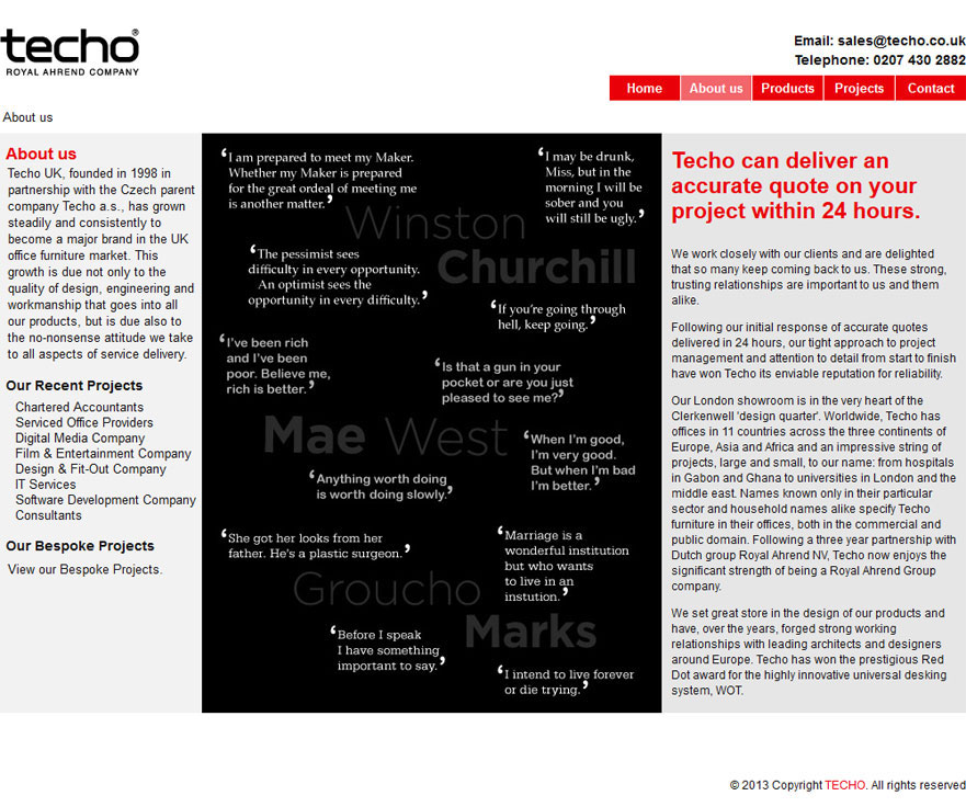 Techo About Us Page